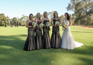 Wedding Photos on course